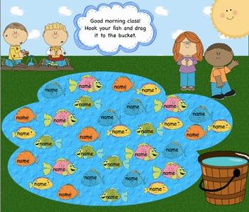 Attendance Fish Interactive Flipchart for Promethean Board