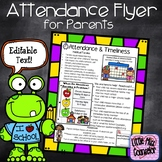Attendance Flyer for Parents with Editable Text