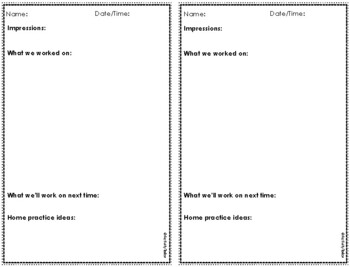 Attendance Form and Data Collection for Speech Therapy 2017-18 FREEBIE