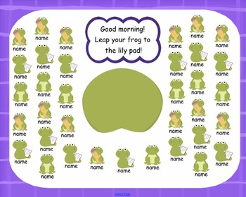 Attendance Frog Interactive Smartboard 35, 25, & 20 Students
