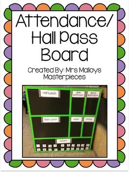 Attendance/Hall Pass Board