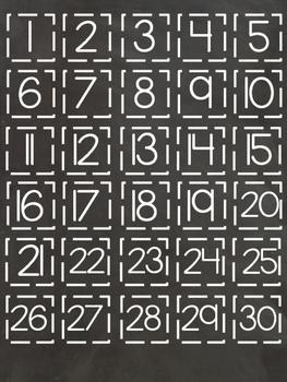 Attendance/Hall Pass Board: Chalkboard Theme