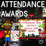 Attendance Hero Editable Award Certificates