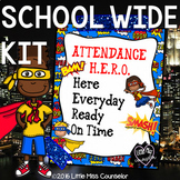 Attendance Hero:  Editable School Wide Kit