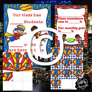Attendance Hero:  Editable School Wide Kit