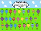 Attendance Hot Air Balloon Interactive Smartboard Morning