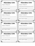 Attendance & Hot Lunch Form