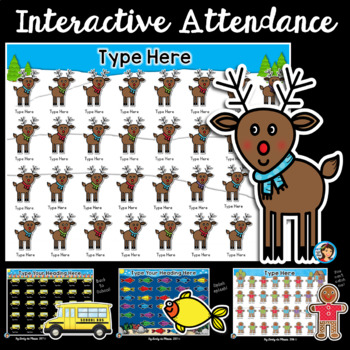 Attendance Interactive PowerPoint Growing Bundle