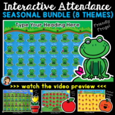 Interactive Attendance PowerPoints Seasonal Bundle