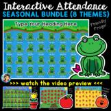 Interactive Attendance PowerPoints Seasonal Bundle