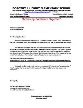 Attendance Letters to Parents