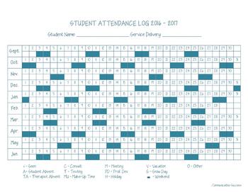 Attendance Log 2016-2017