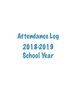 Attendance Log 2018-2019 School Year