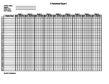 Attendance Log/Report