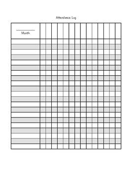 Attendance Log for M/W/F preschool class
