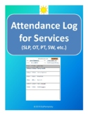 Attendance Log for Services