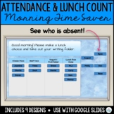 Attendance & Lunch Count  for use with Google Slides