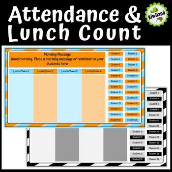 Attendance & Lunch Order Count - Google Slides & PowerPoint