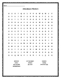 Attendance Matters Word Search