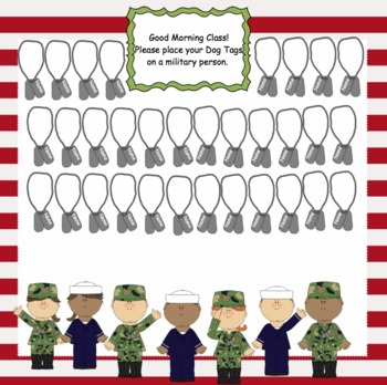 Attendance Military Interactive Smartboard Morning