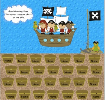 Attendance Pirate Themed Promethean Activ Inspire