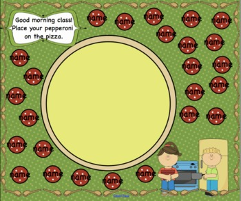 Attendance Pizza Interactive Smartboard Morning