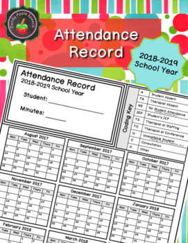 Attendance Record 2018-2019 School Year