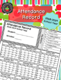 Attendance Record 2018-2019 School Year