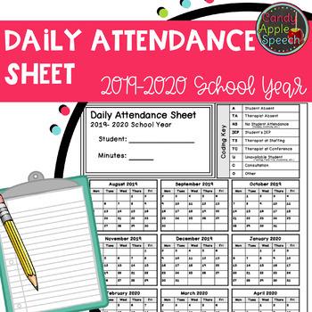 Attendance Record 2019-2020 School Year