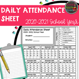 Attendance Record 2020-2021 School Year