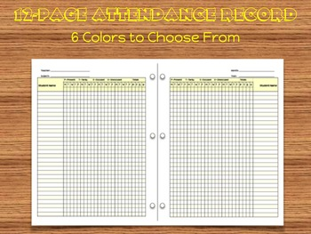 Attendance Record and Gradebook