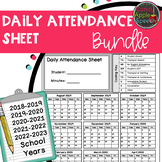 Attendance Sheet Bundle (18-19, 19-20, 20-21, 21-22 and 22