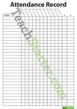 Attendance Record Chart