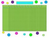 Attendance Record for Teacher Binder Polka Dot Theme