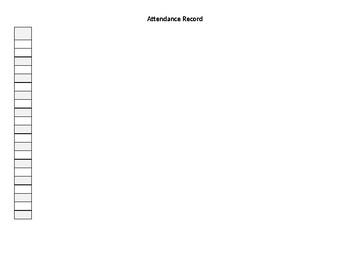 Attendance Record sheet