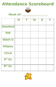 Attendance Scoreboard Tracker