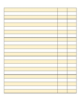 Attendance Sheet (Edit and Print)