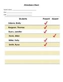 Attendance Sheet (Edit and Print)