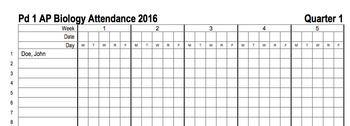 Excel Attendance Sheet Template