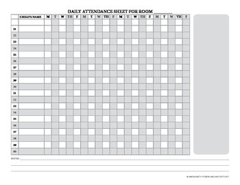 Attendance Sheet (Up to 40 Students)