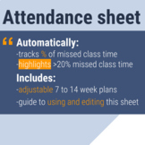 Attendance Sheet with Automatic Calculations