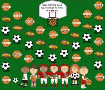 Attendance Sports Interactive Smartboard Morning