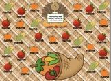 Attendance Thanksgiving Interactive Flipchart for Promethean Board