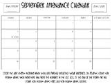 Attendance Tracker Calendar Editable