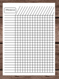Attendance - Tardy - Late - Time Tracker Chart - Monthly Calendar Teacher Binder