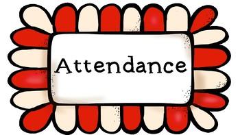 Attendance Tracker Popcorn Themed Bulletin Board