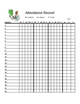 Attendance Tracker (chart)
