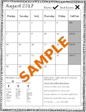Attendance Tracking Goal Sheets