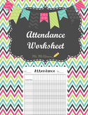 Attendance Worksheet