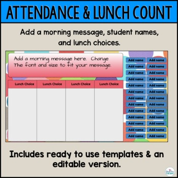 Attendance and Assignments Bundle for use with Google Slides